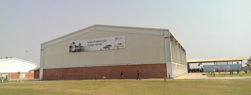 Multisports hall at the OYDC Zambia