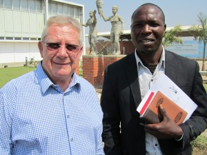 President Williams and Vice-President Kangwe of IKF Africa