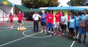 Promo group with players U19 at school Colegio Saint Patrick (Santo Domingo)