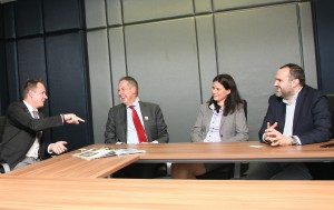 Hungarian NOC President Kulcsar, IKF President Fransoo, HKA Secretary General Pogany and HKA President Tegzes