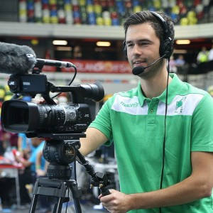 The IKF produces its livestreams in-house with an outstanding volunteer crew - Image by Marco Spelten (source: England Korfball)