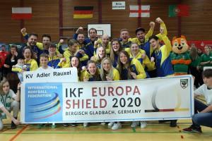 Bronze medal: KV Adler Rauxel (GER) - Photo: korfbalfoto.nl